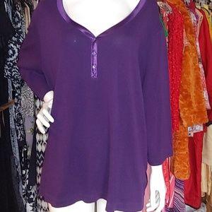 Purple casual woman's top